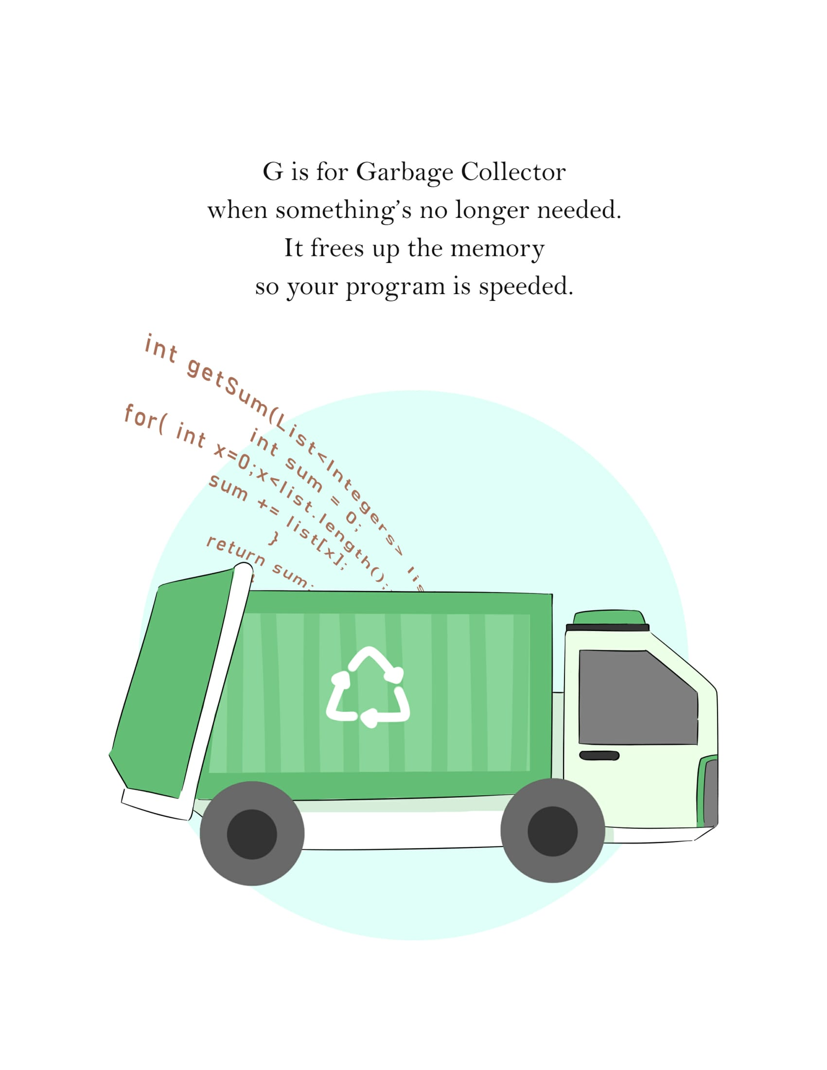 G is for Garbage Truck